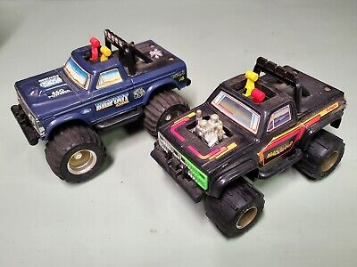 Vintage 1983 playskool BIG FOOT and BLACK GOLD 4x4 trucks