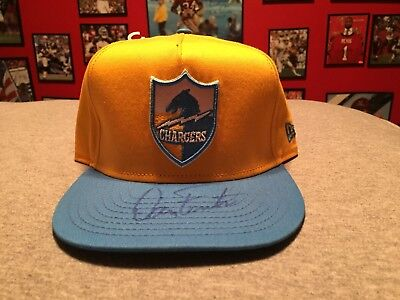 DAN FOUTS SIGNED AUTOGRAPHED BRAND NEW SAN DIEGO CHARGERS HAT HALL OF FAME 1993