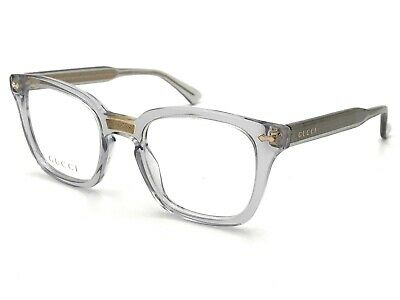 Gucci Opulent Luxury Eyeglasses GG 0184O 005 Grey Transparent -- (Luxury Spectacles)