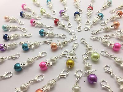 Mini-Schutzengel, Charme, Perlen, Engel,Gastgeschenk, Anhänger, 50 Stück NEU