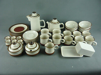 DENBY POTTERS WHEEL TAN CENTRE KAFFEE TEE SERVICE STEINGUT GESCHIRR 40 TEILE Potters Wheel