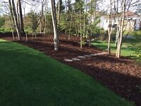 Landscaping, mulching, excavation