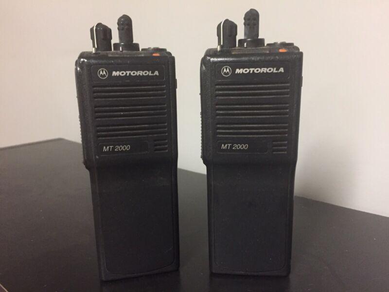 Motorola MT 2000 Two Way VHF Radios MT2000 w/battery
