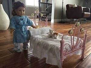 American girl doll and bed