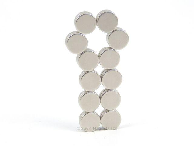 10 Strong Neodymium disc magnets 9mm dia x 2mm N35 craft fridge DIY MRO