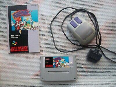 Jeu Super Nintendo / Snes Game Mario paint + Souris + Notice Challenge PAL *