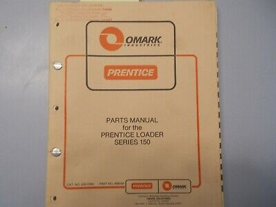 Prentice Hydro Ax 150 Loader Parts Manual