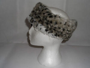 LADIES GIRLS FAUX FUR HEADBAND EARWARMERS/SKI BAND/EAR MUFFS