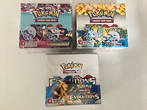 Pokemon Booster Box Flashfire,Phantom,Evolutions XY