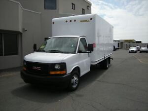 2017 GMC Savana Cube Van 16' 1 Ton Cube with Fiberglass box, Loa