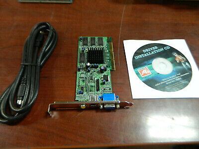 - Radeon 7000 64M TVO 1024-9112-06-SA Video Card w/ Driver installation CD and Cor