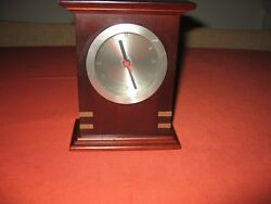 Royal Selangor desk clock - Collectable - Rich Mahogany with Brass Decor