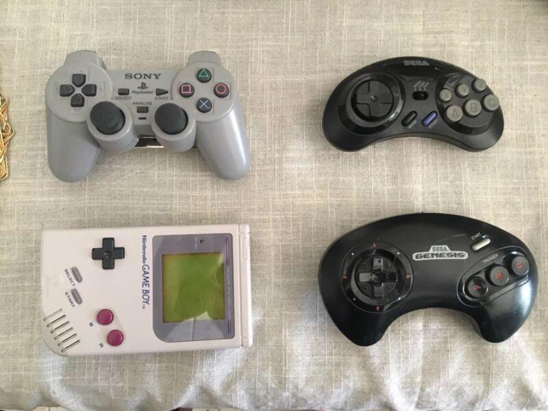 Gameboy / PlayStation / Sega / Sega Genesis Controller Belt Buckle Lot