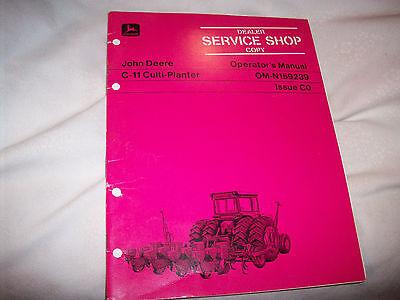 John Deere C-11 Culti-Planter Operator's Manual