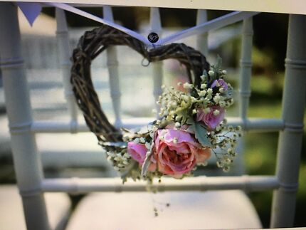 Used rustic wedding decorations miscellaneous goods gumtree 8x rustic wicker heart wedding pew decorations junglespirit Choice Image