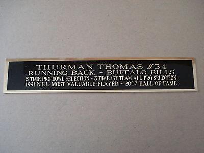 (Thurman Thomas Buffalo Bills Nameplate For A Football Display Case 1.5 X 8)