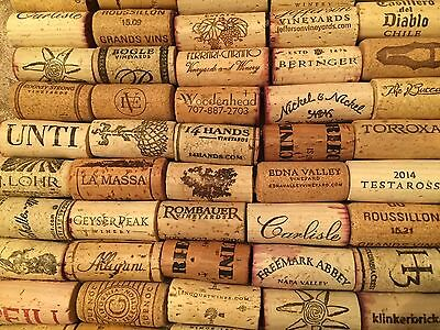 100% Natural Used Wine Corks from USA and Europe  **100 corks**