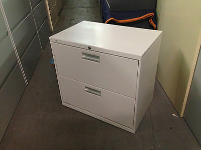 Lot Of 2 2Drawer Lateral Size File Cabinets By Hon Office Furniture Model 672L