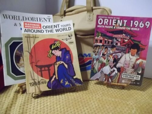 Lot of Pan Am TWA Travel Package Tour Brochures Booklets Orient 1969 Itineraries