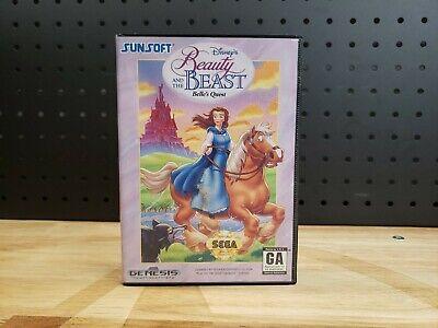 Disney's Beauty and the Beast: Belle's Quest Sega Genesis 1993 COMPLETE w Box Belle Beast Games