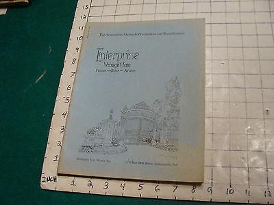vintage Original Catalog: ENTRPRISE WROUGHT IRON fences-gates-arches, 1931 or so