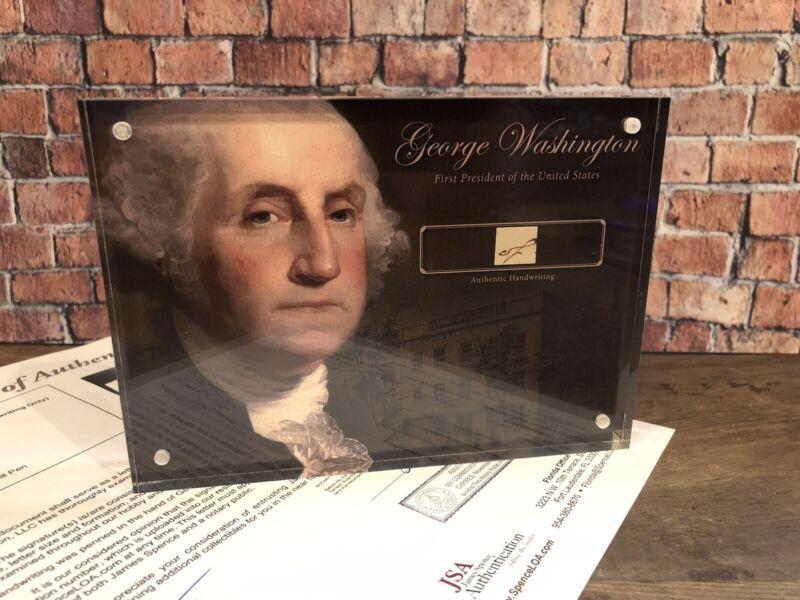 GEORGE WASHINGTON 1797 HANDWRITING SIGNED JSA LOA AUTHENTIC HISTORIC DISPLAY
