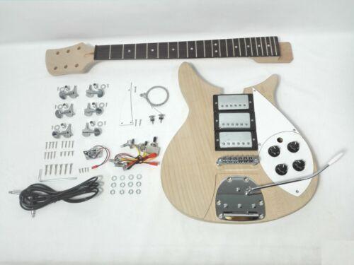 Set Neck Electric Guitar DIY Kit, Solid Mahogany Body, H-H-H,No-Soldering. DKERK