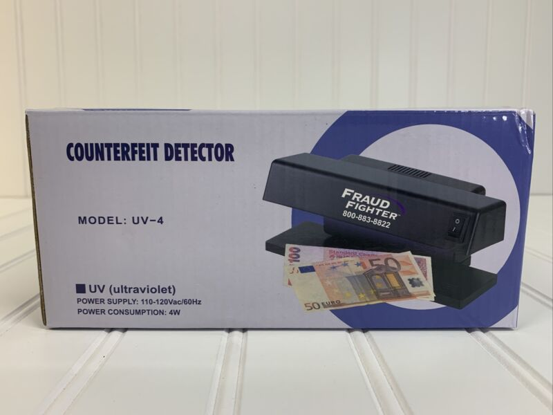Fraud Fighter UV-4 Manual Counterfeit Detector - Brand New In Box