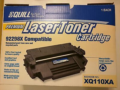 Quill Premium Laser Toner Cartridge, 92298X Compatible, Reorder No. XQ110XA, NEW 110 Laser Toner Cartridge