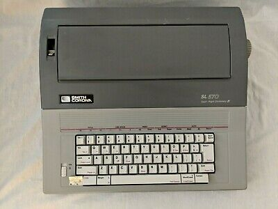 Smith Corona Sl 570 Electronic Daisy Wheel Typewriter 5a-1 With Cover Tested