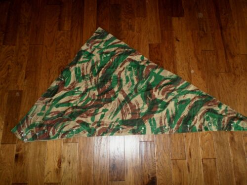 FRENCH MILITARY LIZARD CAMOUFLAGE SHELTER HALF PONCHO 1954 ALGERIAN WAR ERA