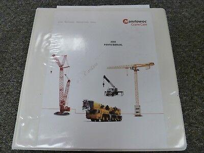 Manitowoc Model 2250 Lattice Boom Crawler Crane Parts Catalog Manual Book