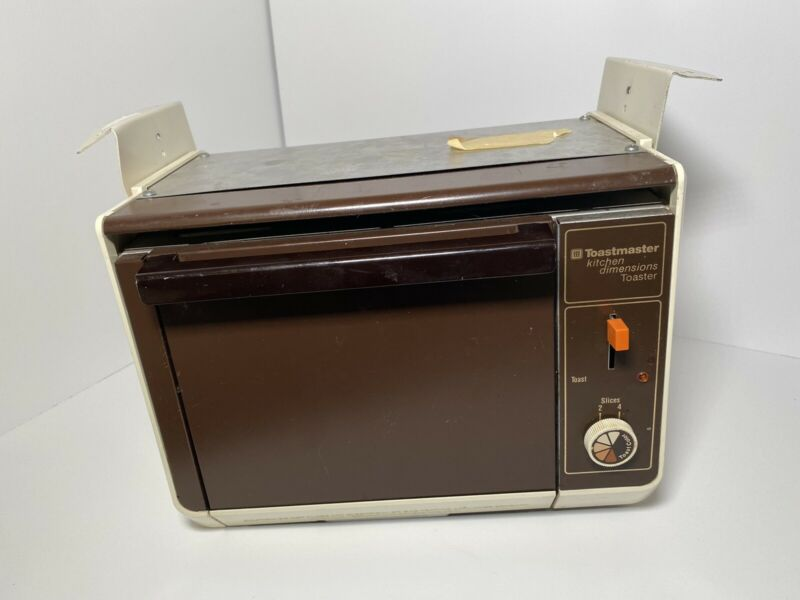 Vintage Toastmaster Kitchen Dimensions Toaster Model 785A Under cabinet 4 slice