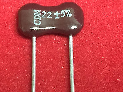 Cornell Dubilier 22uf 5 Mica Capacitor Lot Of 10pcs