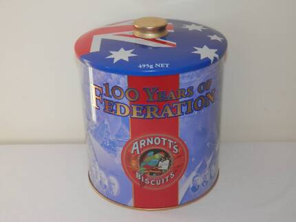 Arnott's 100 Years Of Federation Collectors Biscuit Tin, Exc Cond Fisher Weston Creek Preview
