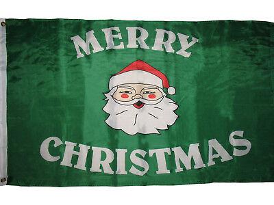 3x5 Merry Christmas Santa Claus Face Premium Flag 3'x5' Hous