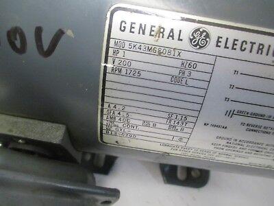 General Electric Motor 1 Hp 1725 Rpm 200 V 4.2 A