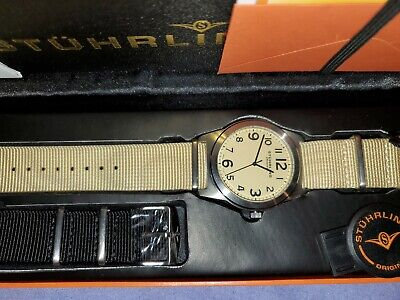 STUHRLING ORIGINAL MEN'S WATCH SET WITH EXTRA BAND NEW