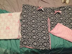 Car seat canopy and muslin baby blanket