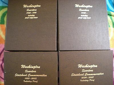 Click now to see the BUY IT NOW Price! 1932 1964,1965 2006 WASHINGTON QUARTER COMPLETE 345 TOTAL SET  MANY AU/BU