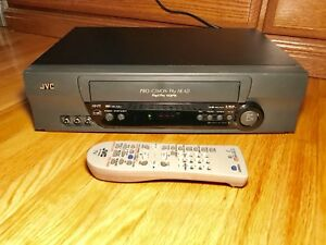 JVC HR-A5U VHS PLAYER VCR with Remote works A1