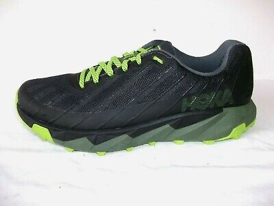 MENS HOKA ONE ONE 'TORRENT' TIME TO FLY BLACK RUNNING TRAINERS 9 UK EXCELLENT