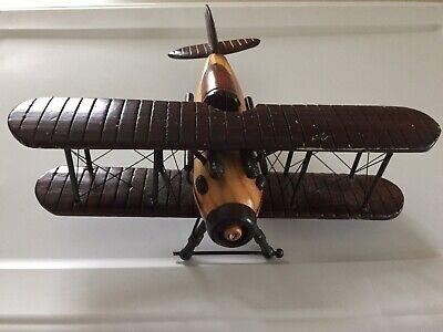 Wooden Bi-Plane Model - Wooden Airplanes