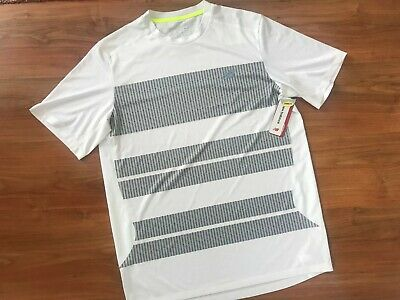 Mens White NEW BALANCE Ice Tech GYM Fitness RUNNING T-SHIRT (M) *BNWT*