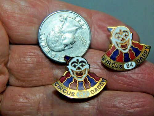 10 Vintage Masonic / Shriners Pins / 7 Years of Circus Daddy Clowns and 3 Others