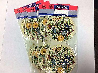 Ceramic decals round butterfly floral design lot of 14  (Floral Design Ceramic)