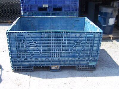 48x70x34 Plastic Collaspable Stackable Folding Gaylord Shipping Crates