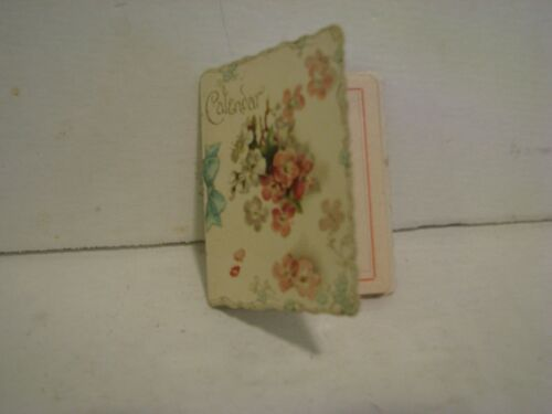 Miniature Petite  MINI Calendar  1896   NEW YORK DUTTON COMP    2 3/4 INCH