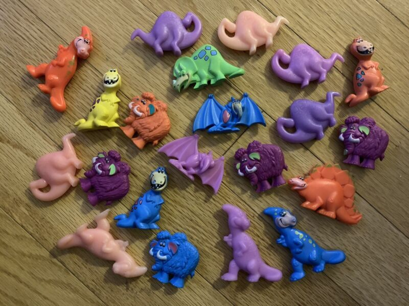 21 Flintstone Post Fruity Cocoa Pebbles Dinosaur Toy Cereal Prize Premium Promo