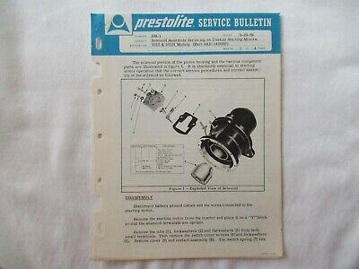 Prestolite John Deere Approved 5010 Tractor Coaxial Starting Motor Brochure